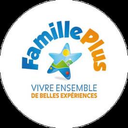 Badge Famille Plus - Vivre ensemble de belles experiences